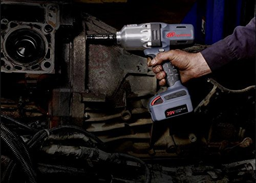 A pro using Ingersoll Rand impact driver