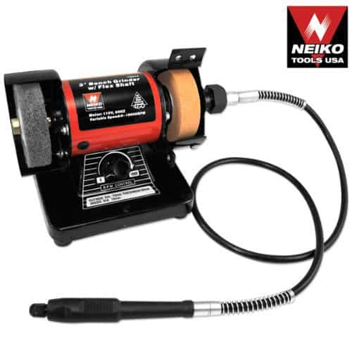 Neiko® 10207A 3-Inch Mini Bench Grinder and Polisher