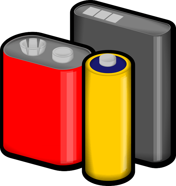 Drawing of common batteries