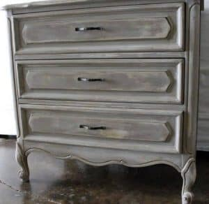 wooden furniture with distressed look