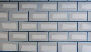 painter's tape ceramic tiles