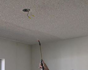 painting a popcorn ceiling