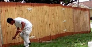 how to paint a fence fast