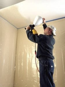 easiest way to paint a ceiling